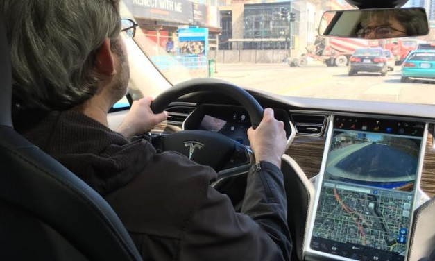Test-driving a Tesla